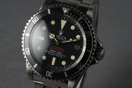 "1970s ""Double Red"" Rolex Sea-Dweller."