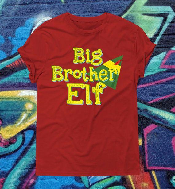 Big Brother Elf Christmas Shirt T-Shirt Elf by kitschklothing