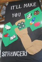 4-H club banner made from felt. It's a way to promote 4-H at the club, county, and state level. #4H youth create a #banner to promote 4-H and build their artistic and creativity skills in the process. #mn4H #minnesota #countyfair #felt #artproject