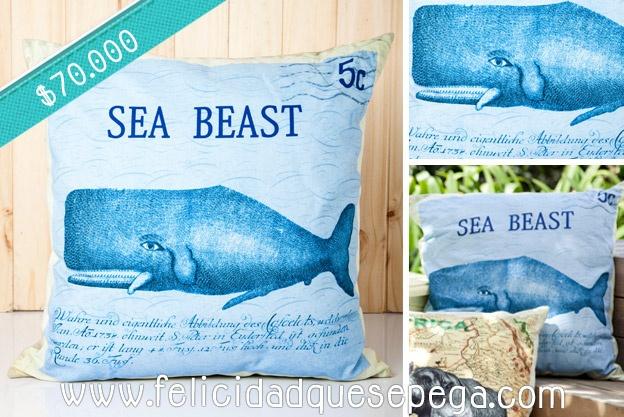"""Cojín """"Sea Beast"""" de nuestra nueva colección"""
