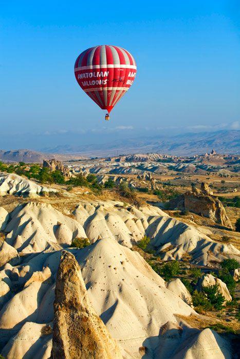 Volando en globo a Capadocia...