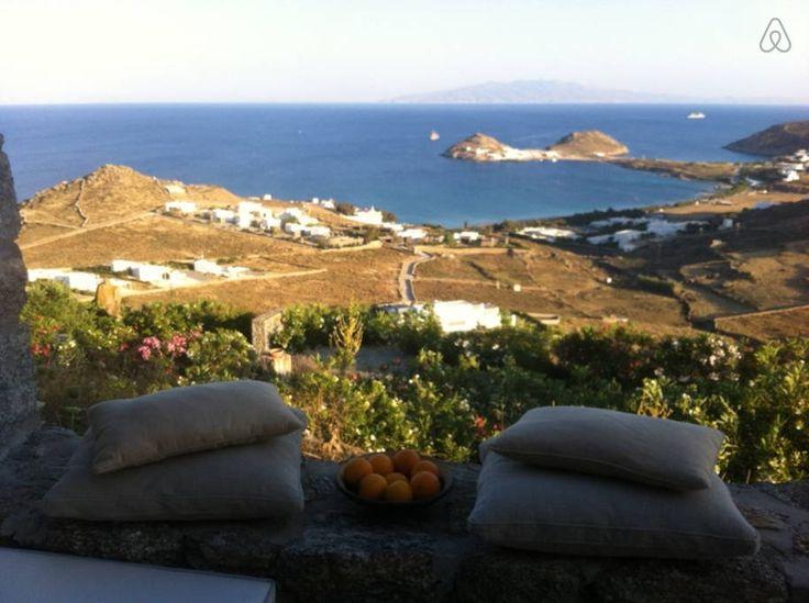 Beautiful view from villa Cyclamen, Mykonos www.mykonos-villas.com.gr