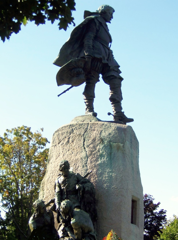 top of the Champlain monument in Couchiching park in Orillia, Ontario-courtesy of Kathy La Hay