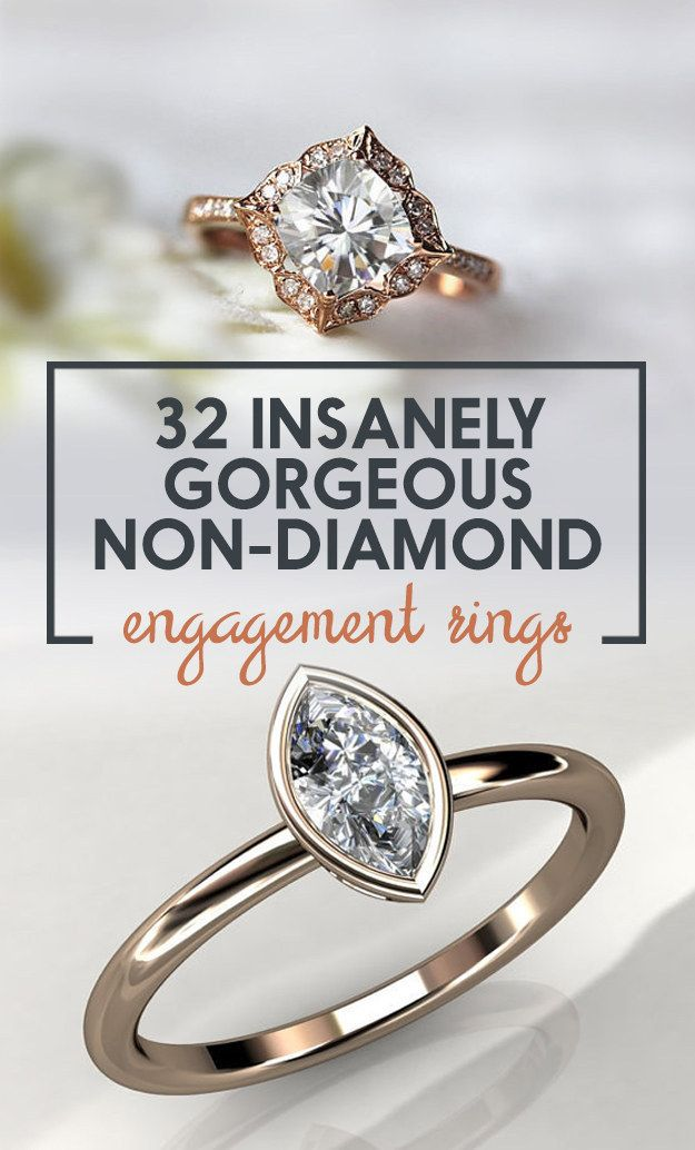32 Insanely Sparkly Non-Diamond Engagement Rings You Can Actually Afford
