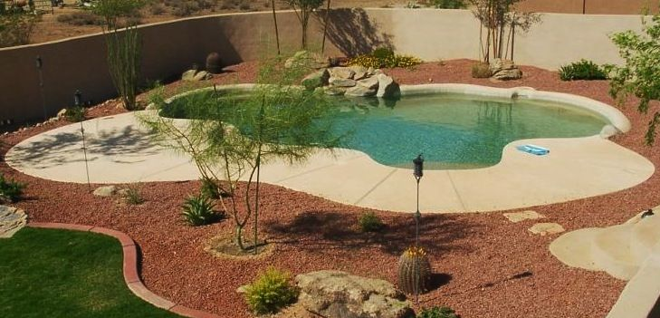 Rubber Mulch Around A Pool Pool Deck And Landscaping Pinterest Pools Rubber Mulch And Mulches