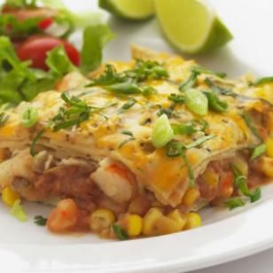 shrimp enchilada bake from eatingwell, definitely a favorite recipe. especially with whole wheat tortillas instead of corn.