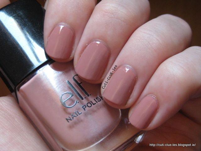Elf Nude nail polish swatch