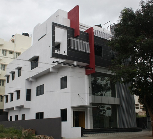Front Elevation Duplex House Bangalore : Front elevation of nalini s west facing commercial complex