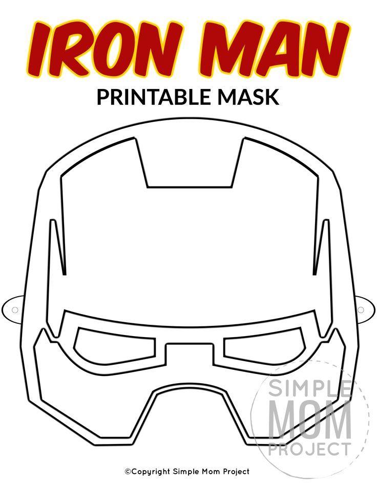 Free Printable Iron Man Mask Templates Iron Man Mask Face Masks For Kids Superhero Masks