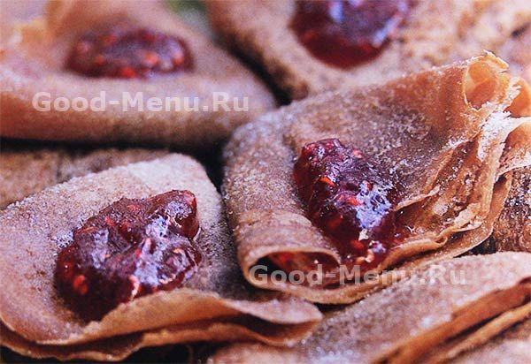 Шоколадные блины - рецепт