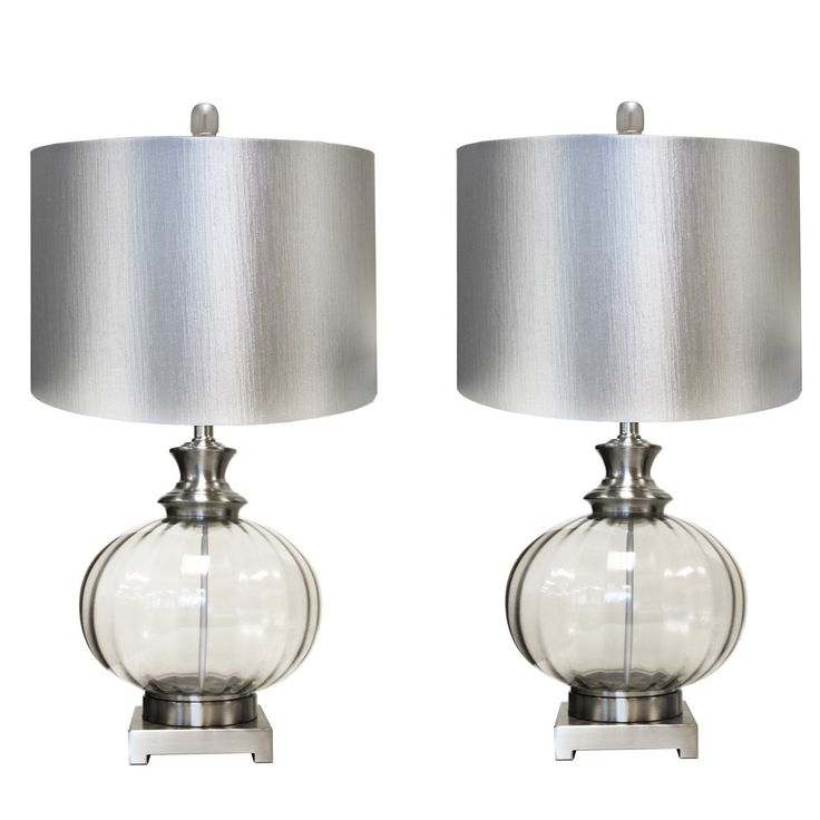 """Urban Designs Talia 28"""" H Table Lamp with Drum Shade"""