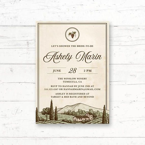 261 best italiantuscan bridal shower images on pinterest winery vineyard bridal shower or baby shower printable invitation wine tuscan rustic custom printable invite filmwisefo