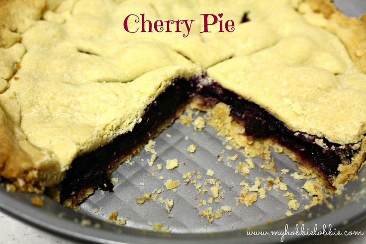 Cherry Pie (made from scratch)