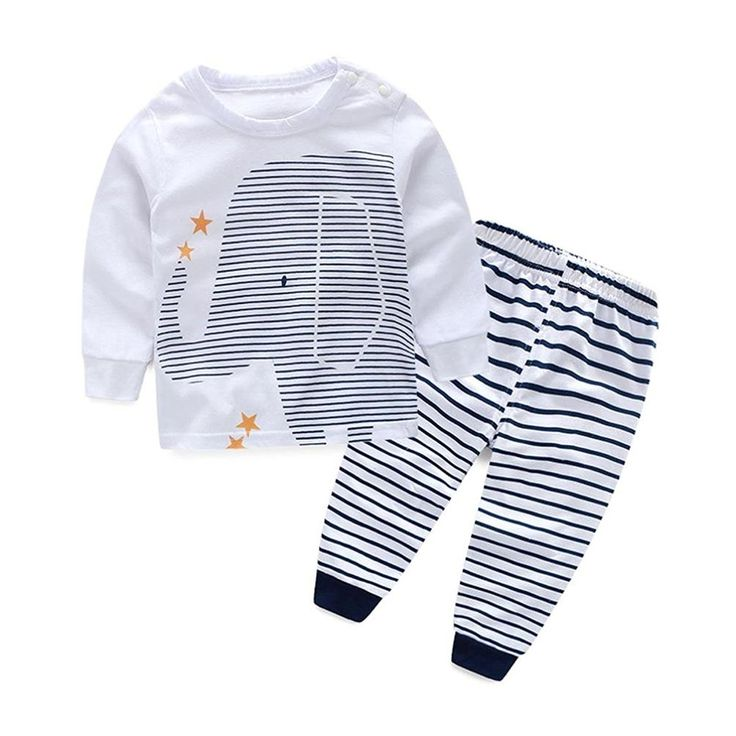 Efaster® Baby Boys Outfit Clothes Printing T-Shirt Tops  Stripe Long Pants 1Set *** Read more reviews of the product by visiting the link on the image.
