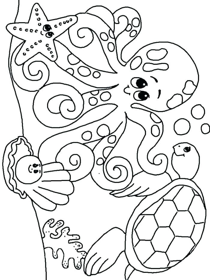 7400 Undersea Animals Coloring Pages Pictures