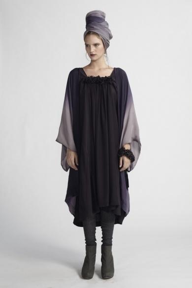 Akira Isogawa pearl tunic dress in purple. Envious.