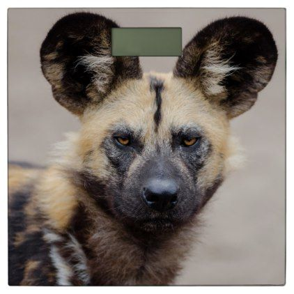 African wild dog bathroom scale - family gifts love personalize gift ideas diy