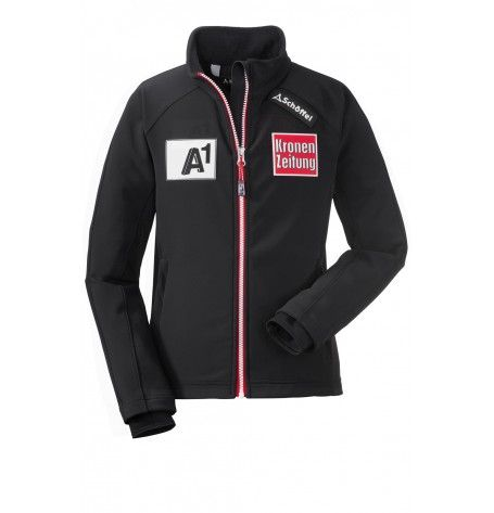 Pre-Order: Race Soft Shell Austrians Junior - This elastic, windproof and water-repellent Junior Race Soft Shell Jacket Austrians the little champions are well protected during training. The breathable material makes sure that you remain dry throughout the day and keeps you warm on cold days.