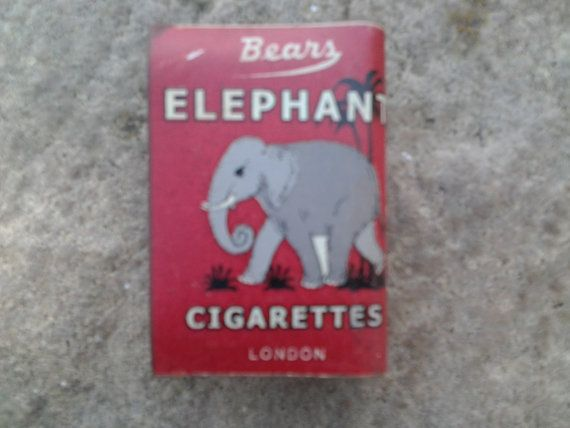 A metal match box cover advertising Bears Elephant by Lallibhai, £8.00