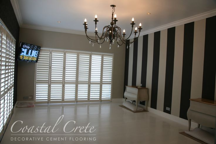 Coastal Crete Flooring - Lily White Self-levelling Colour Cement Flooring | Smooth | Seamless