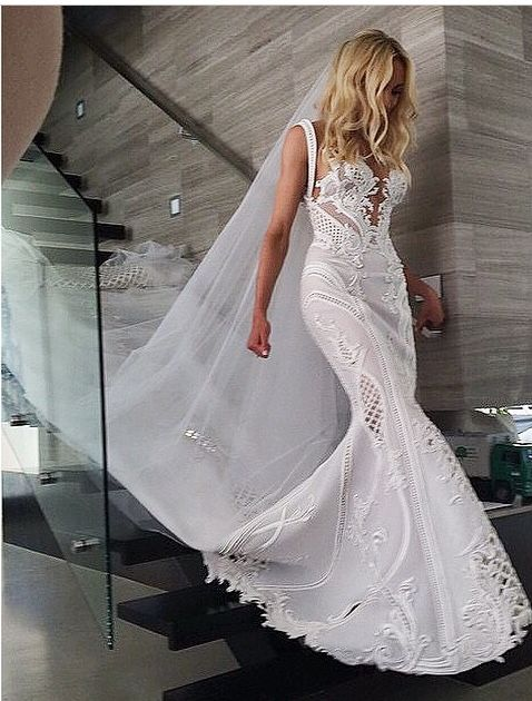 Kate Twigley's J'Aton Wedding Gown- lace | sleeveless | mermaid