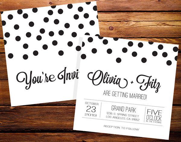 Polka Dots Inspired Wedding Ideas and Invitations -InvitesWeddings.com