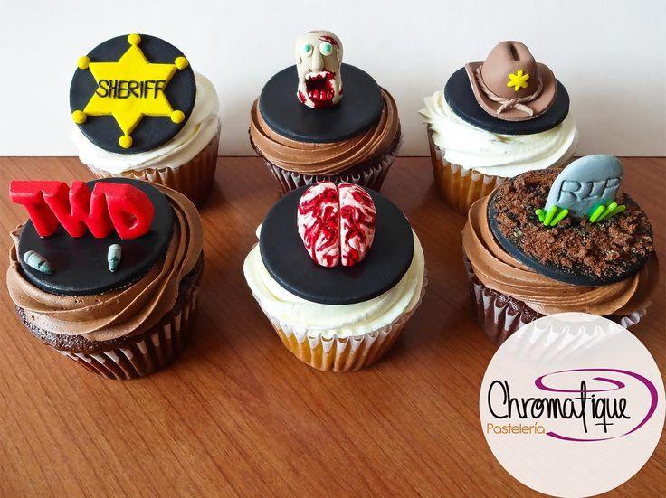 The Walking Dead cupcakes (Cupcakes de The Walking Dead) https://www.facebook.com/ChromatiquePasteleria