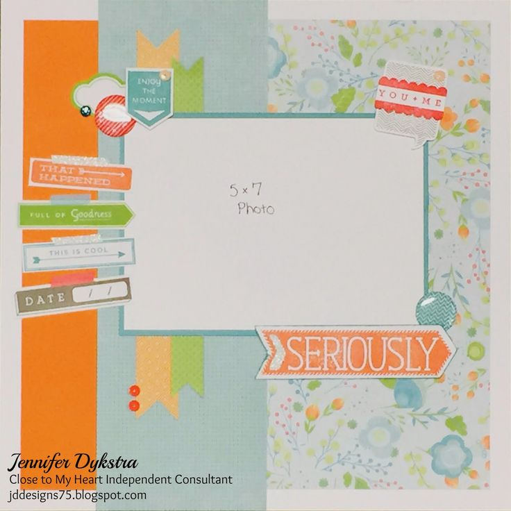 jd designs - CTMH Blossom layout featuring May Just Sayin' stamp of the month set