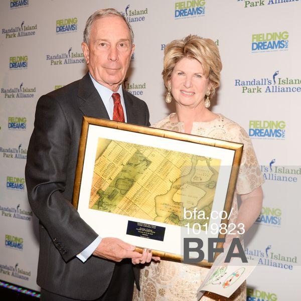 Michael Bloomberg, Karen Cohen at RANDALL'S ISLAND PARK ALLIANCE 2014 Fielding Dreams Gala. #BFAnyc