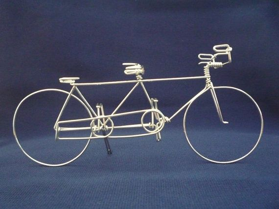 Tandem 1 Bike Ornament Wedding Cake Topper By Heatherboyd On Etsy