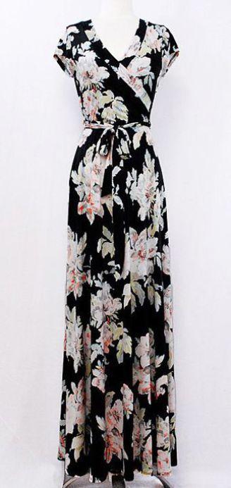 vestido floral longo