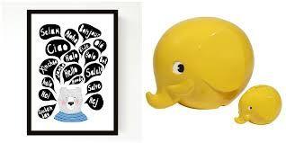 taulu on hauska ja iso norsu löytyykin jo valkoisena, mutta keltainen olisi kiva kaveriksi :)
