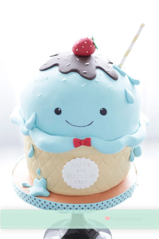Cute Ice cream Cupcake - Cupcake Daily Blog - Best Cupcake Recipes - one happy bite at a time! Chocolate cupcake recipes and cupcakes