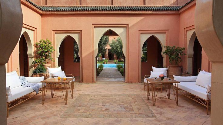 #patio dans #marrakech. Séjournez en #famille dans un riad kids-friendly