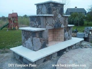 DIY Fireplace? Why not try it yourself? #diy #outdoorlife #outdoors #outdoorliving #outdoorfireplace #masonry #landscape #fireplace #kitchen #outdoorkitchen #outdoorcooking #grilling #backyardideas #backyardflare #pizzaoven #pizza #fireplace