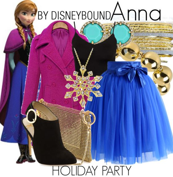 Disneybound: Holiday Party--Anna