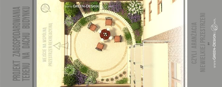Small garden project - visualizations in 3dsMax by Green Design Landscape Architecture, Poland  www.green-design-blog.com.pl