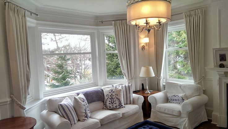 Draperies in a family room!