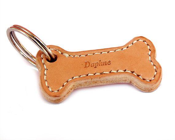 Etiqueta de perro de cuero de encargo etiqueta de perro | Etsy