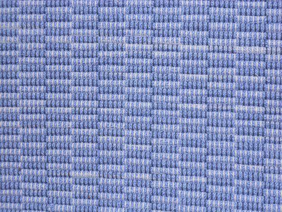 Handwoven rag rug, cotton fabric, poly cotton warp on Etsy, $54.00