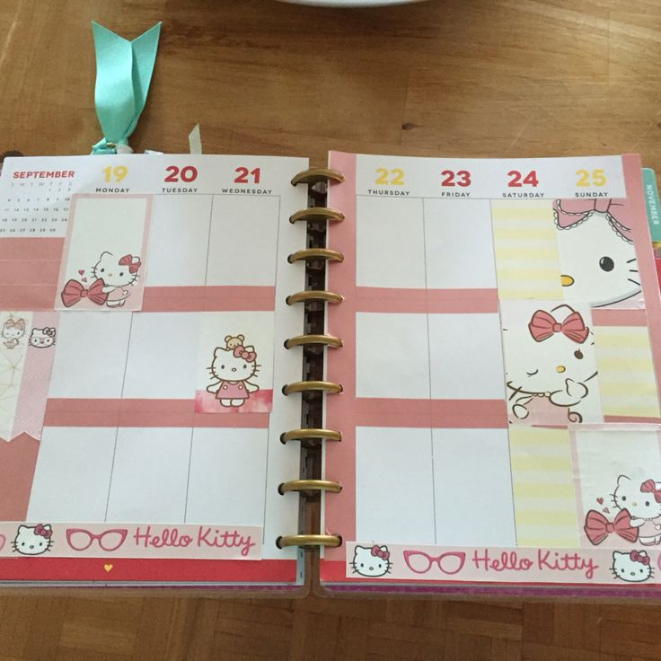 Planner Setup, Hello Kitty theme