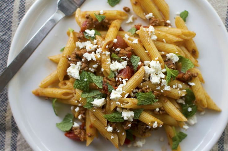 Penne with Spicy Lamb Sauce in 20 minutes for 20 bucks. Recipe on Food52: http://food52.com/blog/9033-penne-with-spicy-lamb-sauce. #Food52.
