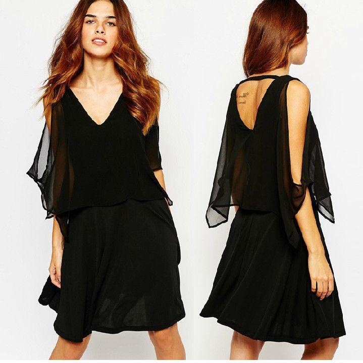 Sexy Short Black Women Dresses