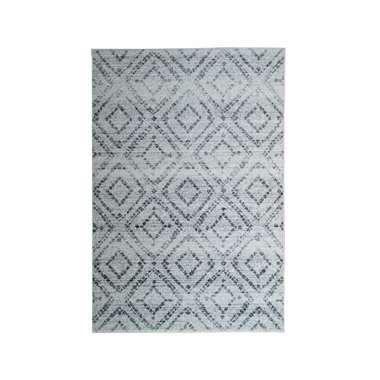 Vloerkleed Florence blokken - grijs - 200x290 cm