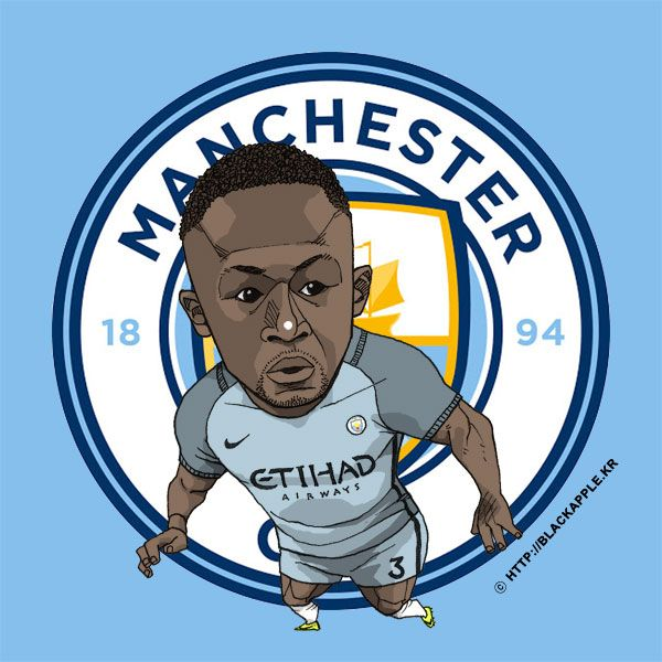 Manchester City No.3 Bacary Sagna Fan Art