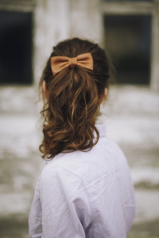 ponytails + bows
