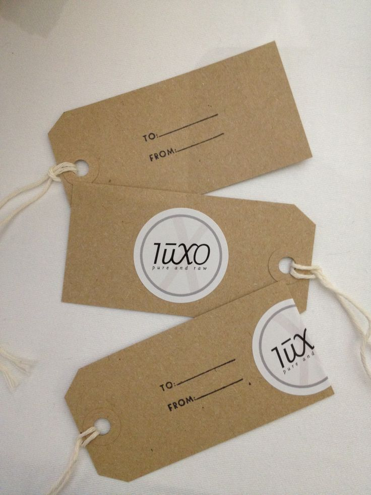 Luxo labels.
