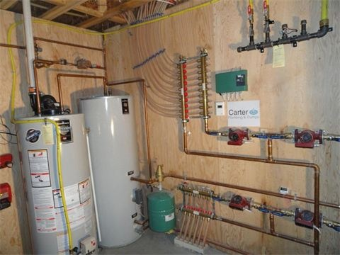 121 best images about radiant floor heating cooling on for Radiant heat wall units