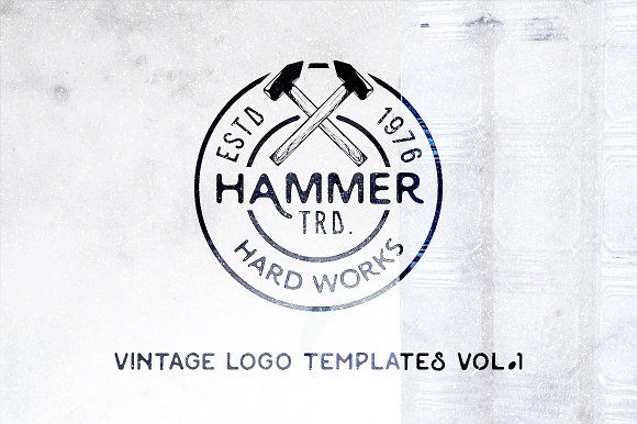 Vintage Logo Templates | Vol. 1 by Roman Paslavskiy on @creativemarket