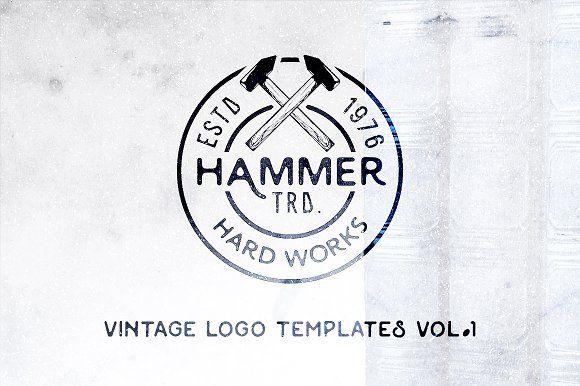 Vintage Logo Templates | Vol. 1 by Roman Paslavskiy on @creativemarket